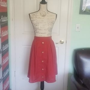 Like New! Burnt orange skirt.